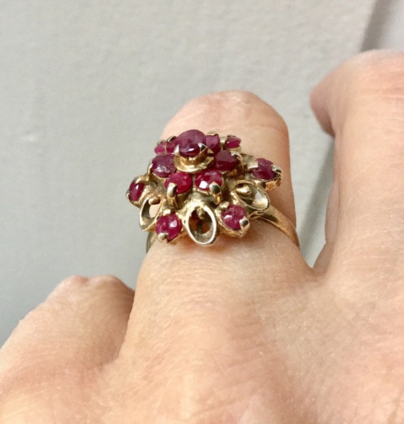 18th ANTIQUE RUBY VERmeil SILVER Exceptional Ring… - image 5