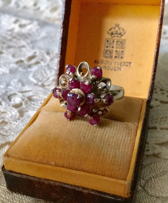 18th ANTIQUE RUBY VERmeil SILVER Exceptional Ring… - image 2