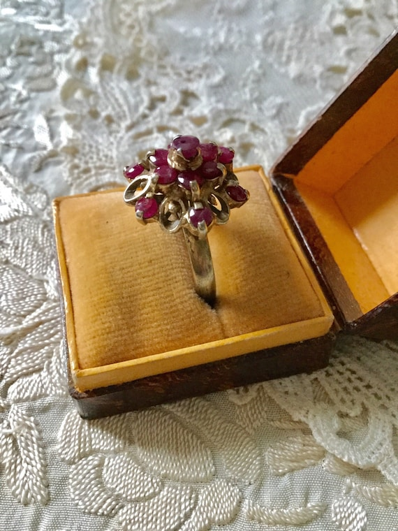 18th ANTIQUE RUBY VERmeil SILVER Exceptional Ring… - image 6