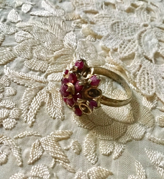 18th ANTIQUE RUBY VERmeil SILVER Exceptional Ring… - image 7