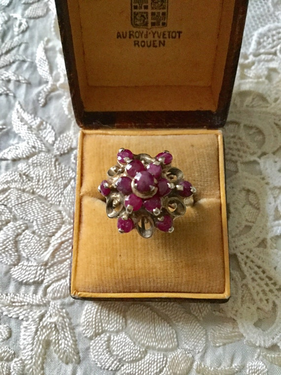 18th ANTIQUE RUBY VERmeil SILVER Exceptional Ring… - image 9
