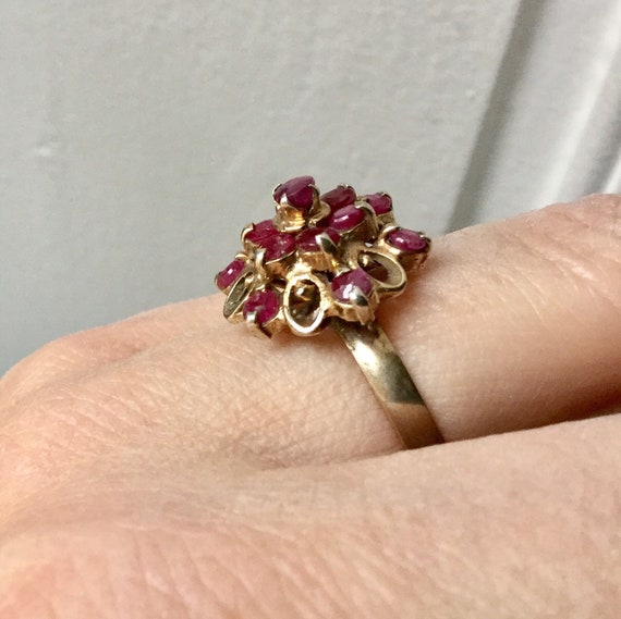 18th ANTIQUE RUBY VERmeil SILVER Exceptional Ring… - image 3