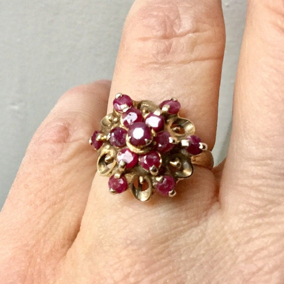 18th ANTIQUE RUBY VERmeil SILVER Exceptional Ring… - image 1