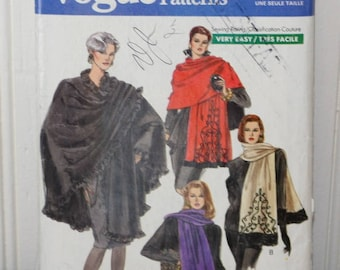 Vogue 7628 Scarf, Stole and Poncho Pattern
