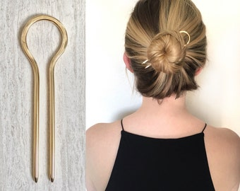 Handmade Bristol Hair Pin Silver Clay Hair Fork Lightweight