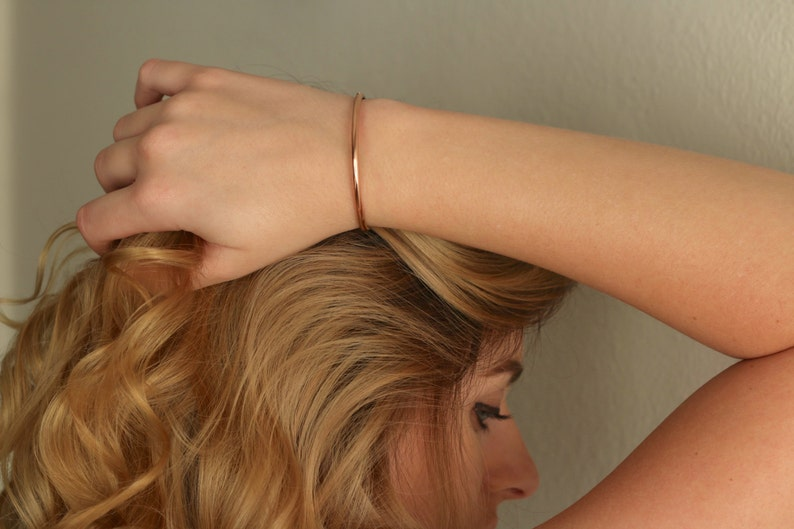 Copper Bracelet Minimalist Bracelet Copper Cuff Simple Cuff