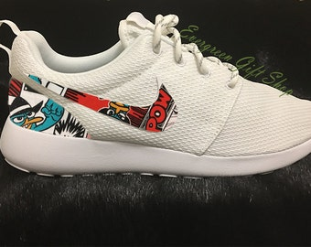 36fc0ba1908 Custom Roshes Nike Custom Roshe Shoes PHINEAS and FERB