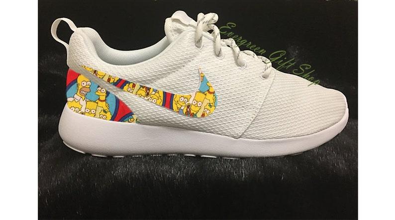 51b235614f9f Custom Roshes Nike Custom Roshe Shoes The SIMPSONS 2