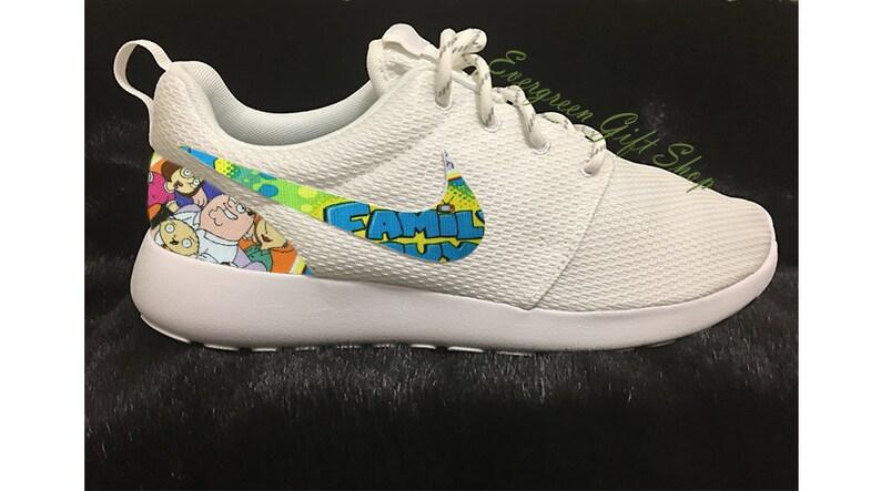 294c63a3abb4e8 Custom Roshes Nike Custom Roshe Shoes FAMILY GUY 2 Says
