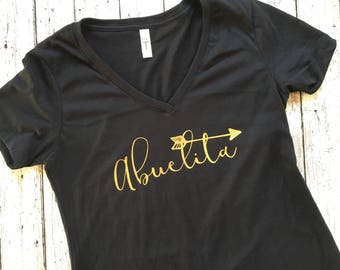 Pregnancy announcement shirt, promoted to grandma shirt, grandma shirt, abuelita shirt, abuelita gift