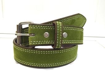 Vert de ceinture en daim, ceinture en cuir vert, Olive ceinture, ceinture  Jade, émeraude ceinture, ceinture femme, ceinture pour homme, large ceinture  de ... b51448e26a9