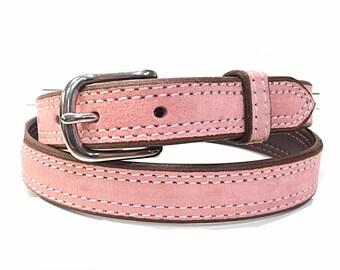 Blush Suede Belt, Pink Belt, Pastel Pink Belt, Light Pink Belt, Suede Belt, Leather Belt, Genuine Suede Belt, Women's Belt, Gifts For Her