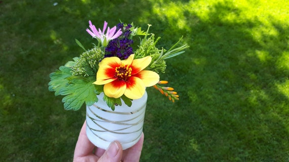 Six Simple Diy Flower Arranging And Jam Jar Upcycling Projects Etsy