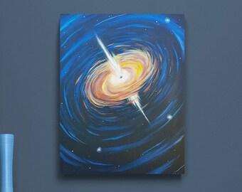 Quasar Painting - Space Painting - Original Painting - Space Art - Quasar Art - Outer Space Art - Galaxy Art - Sci Fi Painting