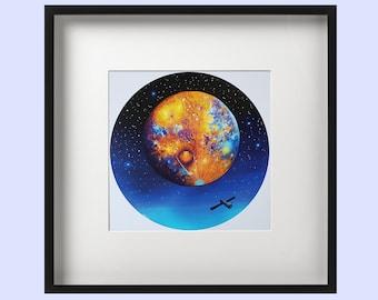Mercury Painting - Mercury Print - Planet Art - Planet Painting - Space Painting - Space Art - Astronomy Art - Solar System Print