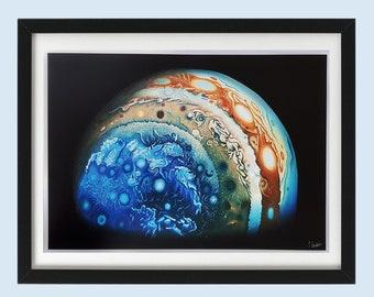 Jupiter Painting - Jupiter Print - Planet Art - Planet Painting - Space Painting - Space Art - Astronomy Art - A3 Art Print - Jupiter Art