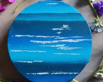 Planet Painting - Neptune Painting - Planet Art - Original Painting - Space Painting - Space Art - Astronomy Art - Handpainted