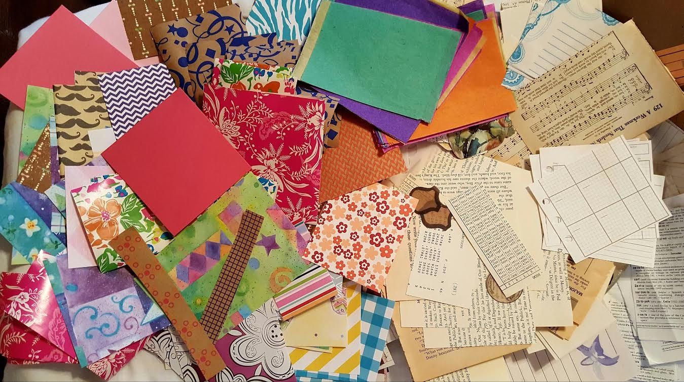 200 Pcs paper pieces Scrapbook Paper Vintage paper scrap   Etsy