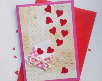 Paper Handmade Greeting Cards Homemade Card Valentine Etsy