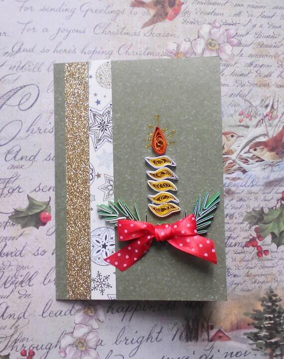 Christmas Greeting Cards Handmade.Christian Cristmas Cards Candle Card Quilled Christmas Card Quill Cards Handmade Greeting Card Handmade Christmas Card Rozhdestvo