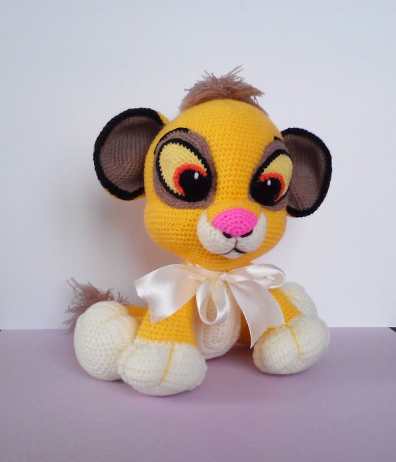 Simba Häkeln Spielzeug Gestrickt Der König Der Löwen Disney Etsy