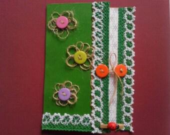 spring card, handmade card, floral card, art card, mother's day card, birthday card, mom birthday card, handmade card, spring, summer