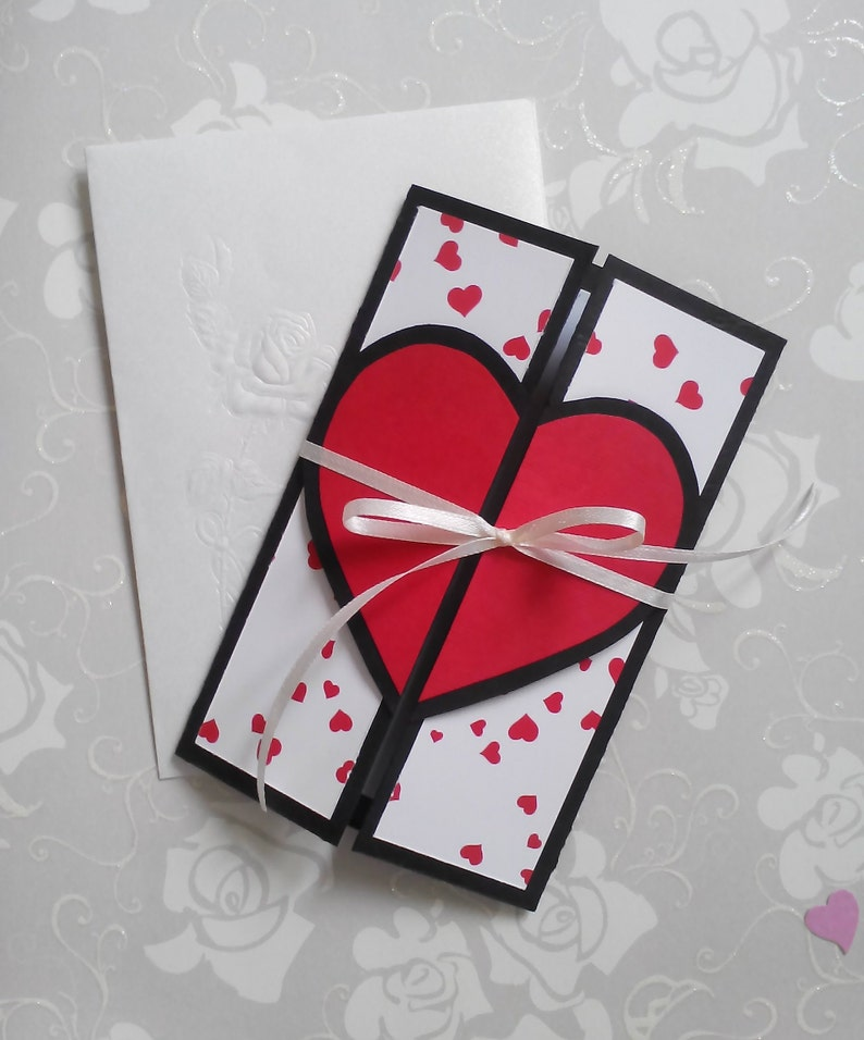 Greeting Cards Handmade Husband Wife Girlfriend Love Card Personalized For Him Paper Pop Up Birthday