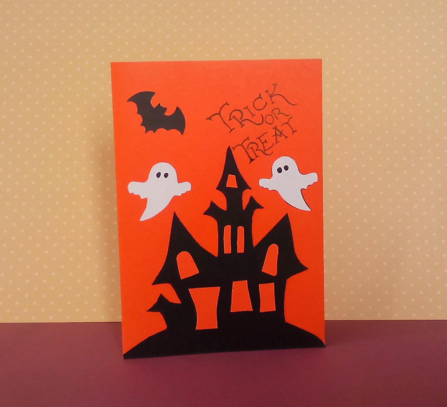 Spooky Halloween Card Handmade Trick Or Treat Funny Etsy
