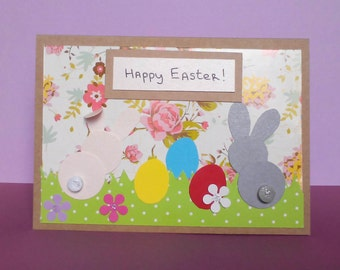 funny Easter card, Easter cards handmade, Easter rabbit card, Easter bunny card, Easter card for kid, happy Easter card, Easter card