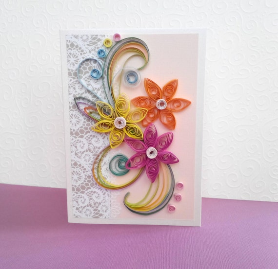 Quill Card Paper Birthday Quilling Cards