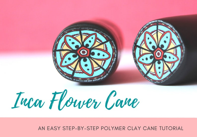 TUTORIAL: Inca Flower Cane  Polymer Clay Cane Step by Step image 0