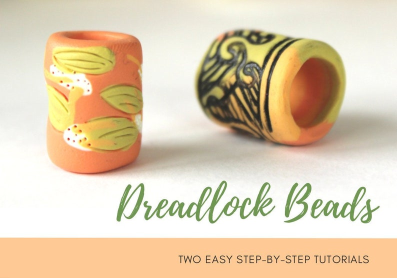TUTORIAL: Dreadlock Beads  2x Polymer Clay Dread Beads Step image 0