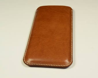 Personalized iPhone X Kangaroo Leather Sleeve/Case/Cover, iPhone x leather Cover, iPhone x Leather Case, iPhone x Leather Sleeve