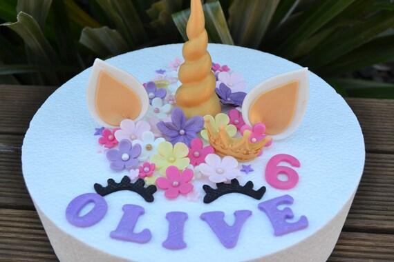 Einhorn Kuchen Deckel Essbare Einhorn 1 Geburtstag Etsy