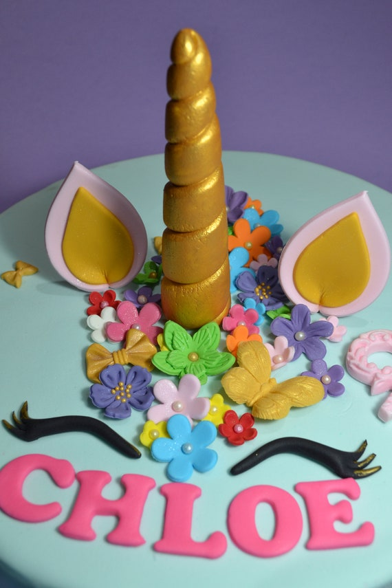 Unicorn Cake Topper Edible 1st Birthday