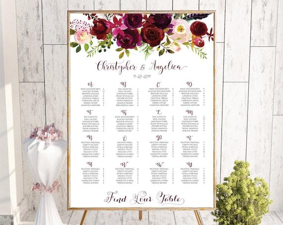 wedding guest list wedding table plan wedding seating chart sorted