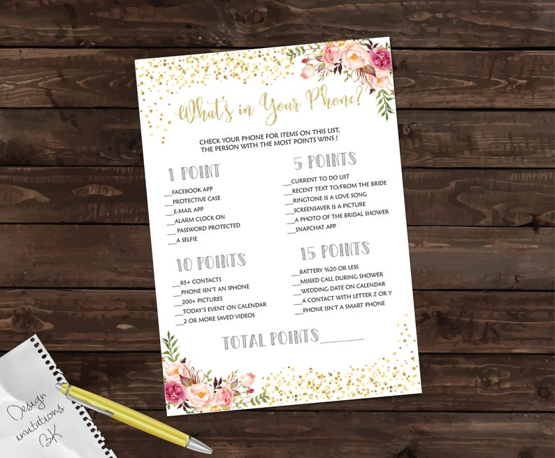 Bride or Groom Game, He Said She Said, Bridal Shower Game Printable,  Wedding Shower Games Instant Download, Gold Confetti, Glitter BRS11