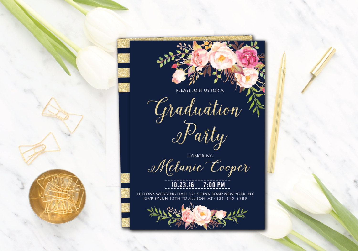 Graduation Party Invite College Graduation Graduation Party