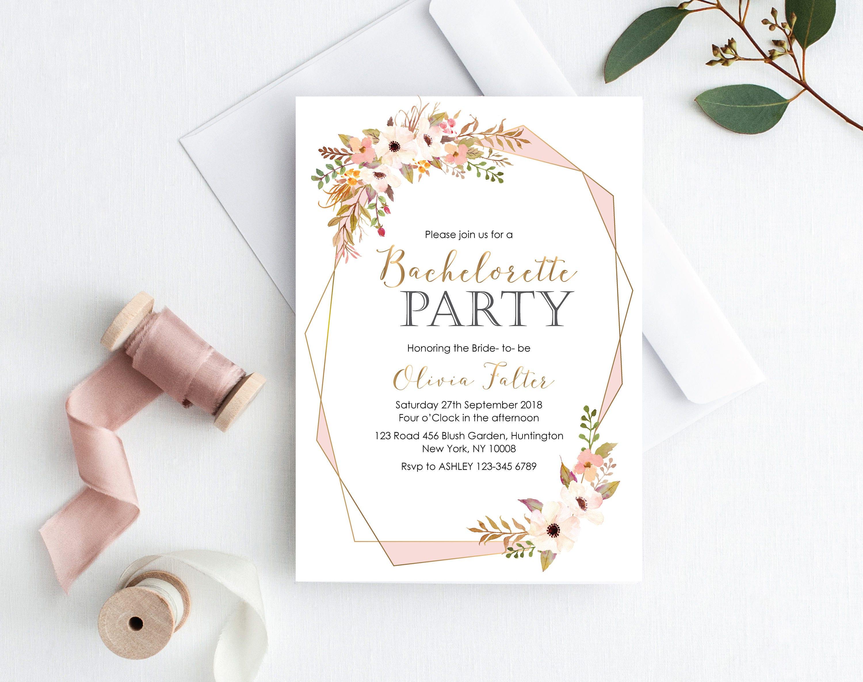 Bachelorette Party Invitation Printable Bachelorette Party