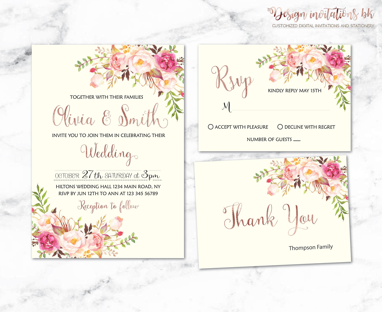 Wedding Invite Templates Uk: Wedding Invitation Template Wedding Invitation Printable