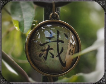 Ethno Cabochon necklace with Bonsai