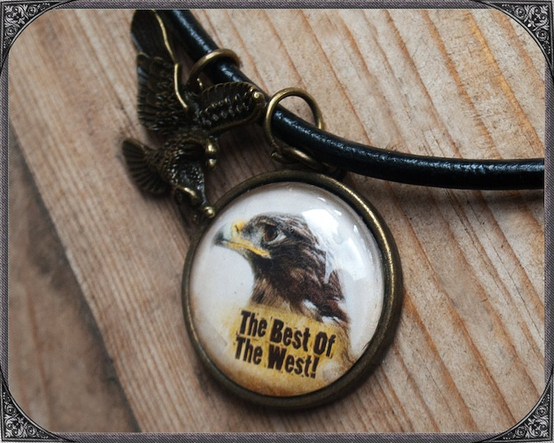 WesternCountry Cabochon Necklace Eagle