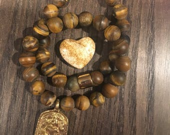 Tigers Eye| Buddha| Stretch Bracelets