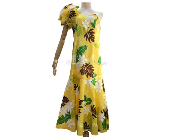 Vintage 1960s 1970s /  Hawaiian Dress / Cotton Dre