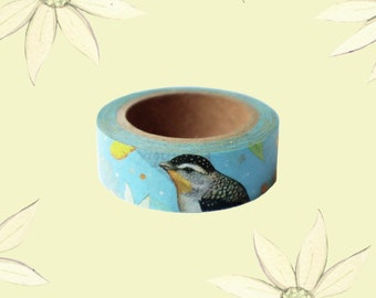 Washi Tape - Spotted Pardalote, Paper Daisies, Australian Design