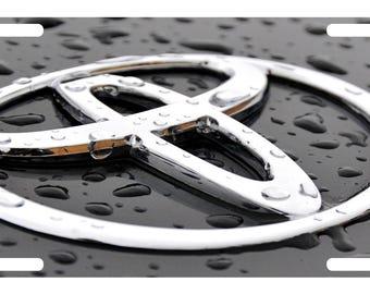 TOYOTA LOGO CUSTOM LICENSE PLATE CAR  EMBLEM Rain Version