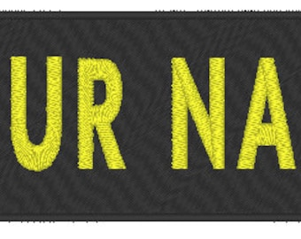 "Custom Embroidered 10/"" x  4/"" Name Tag Sew Iron-On Patch 2 LINES Tactical Patch"