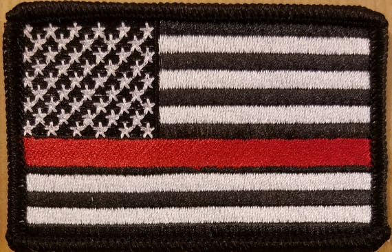 ALBANIA Flag Embroidered Patch W// VELCRO® Brand Fastener Military Tactical Red