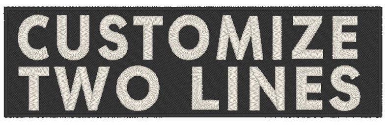 2 Lines Custom Text Embroidery 8 x 4 ID Name Tag Iron-On Patch White Glow In Dark Tactical Morale Emblem