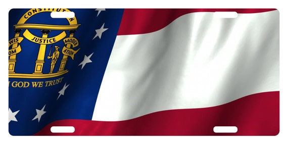 Betsy Ross Wavy Flag Photo License Plate